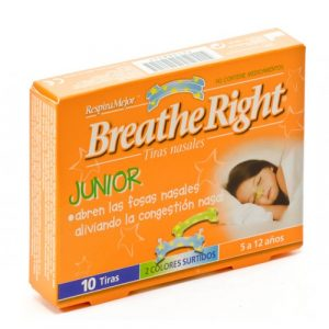BREATHE RIGHT TIRAS NASALES JUNIOR 10 UNIDADES